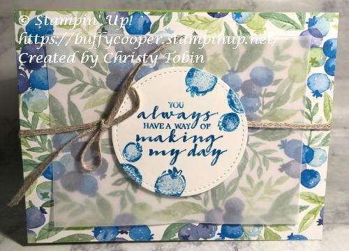 Berry Blessings, Berry Delightful, Stampin' Up!, Sale-a-bration