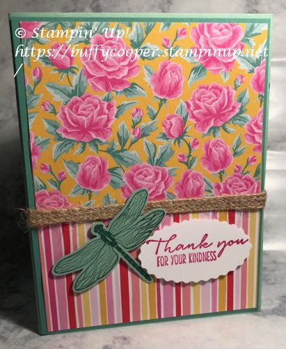 Flowers for every Season, Stampin' Up!, Dragonfly Garden