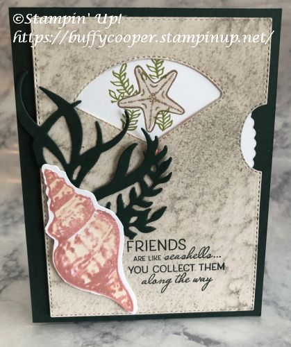 Friends are like Seashells, Stampin' Up!, Give it a Whirl Dies