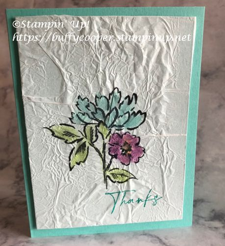 Hand-Penned Petals, Stampin' Up!, Tissue Paper