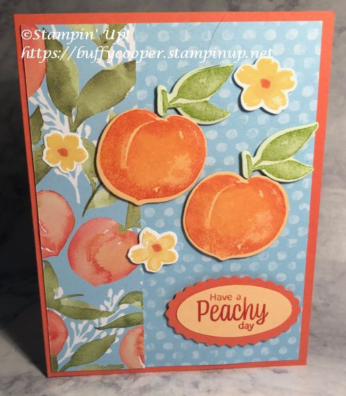 Sweet as a Peach, Stampin' Up!