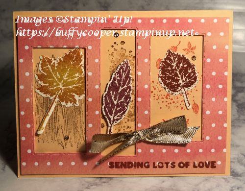 Gorgeous Leaves, Stampin' Up!, Picture This. Sweet Little Stockings