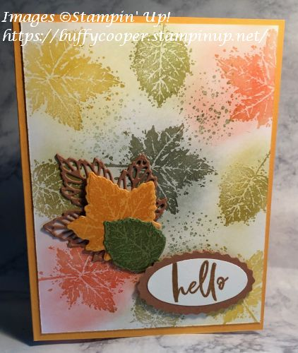 Gorgeous Leaves, Stampin' Up!, Garden Birdhouses