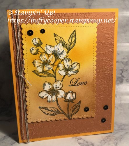 Forever Blossoms, Stampin' Up!, Resist Technique