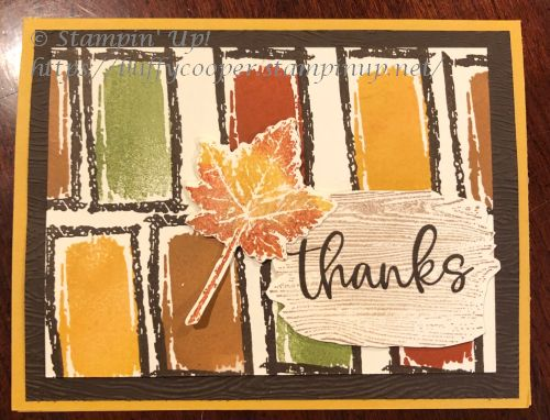 Textures & Frames, Biggest Wish, Gorgeous Leaves, Stampin' Up!